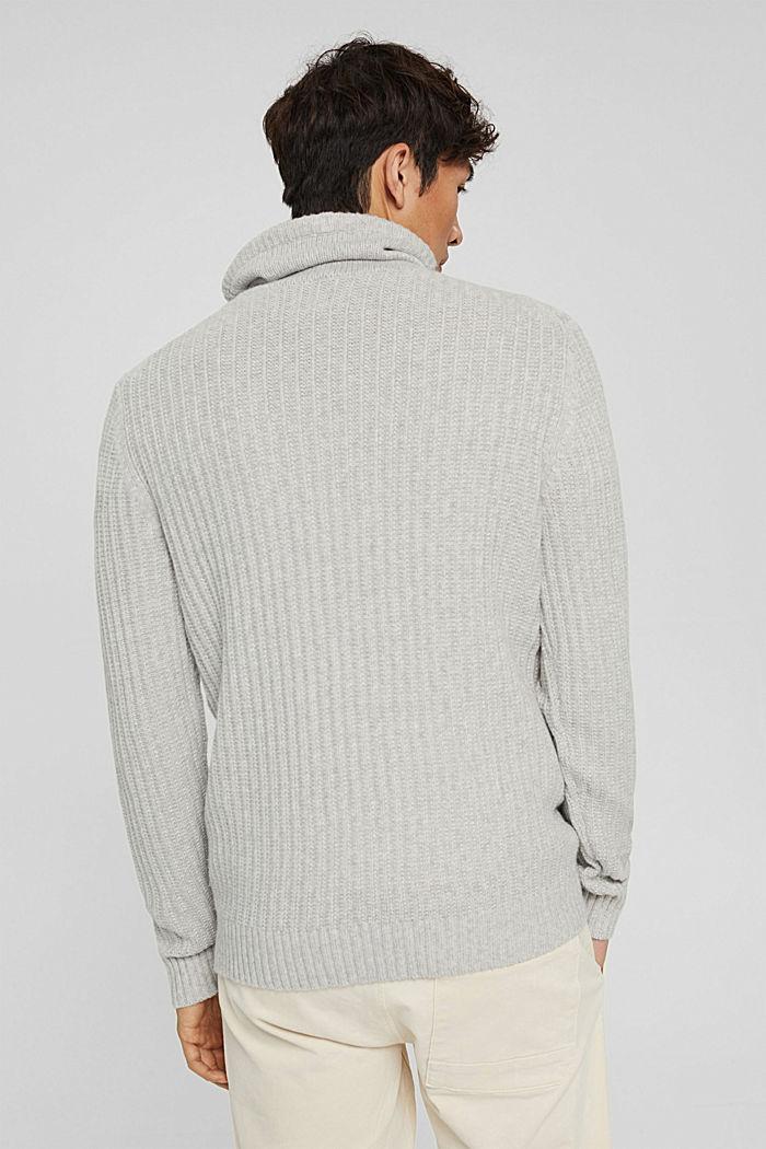 Pullover mit Tunnelkragen aus Bio-Baumwoll-Mix, LIGHT GREY, detail image number 3