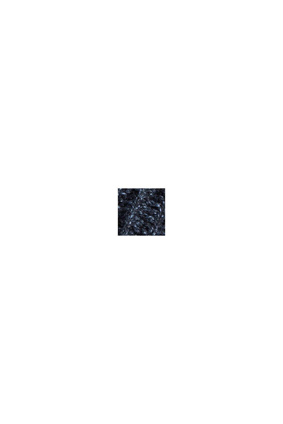 Pullover con collo ad anello, in misto cotone biologico, NAVY, swatch