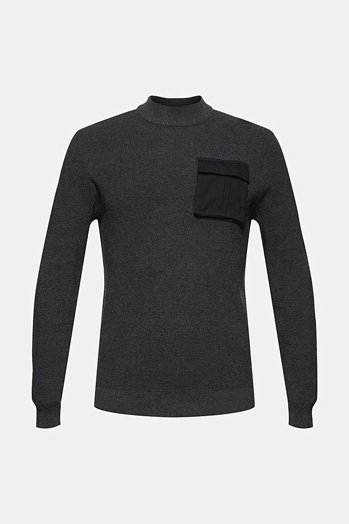 Pullover mit Brusttasche, Organic Cotton, ANTHRACITE, detail image number 5