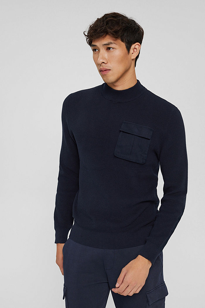 Fashion Sweater, NAVY, detail image number 0