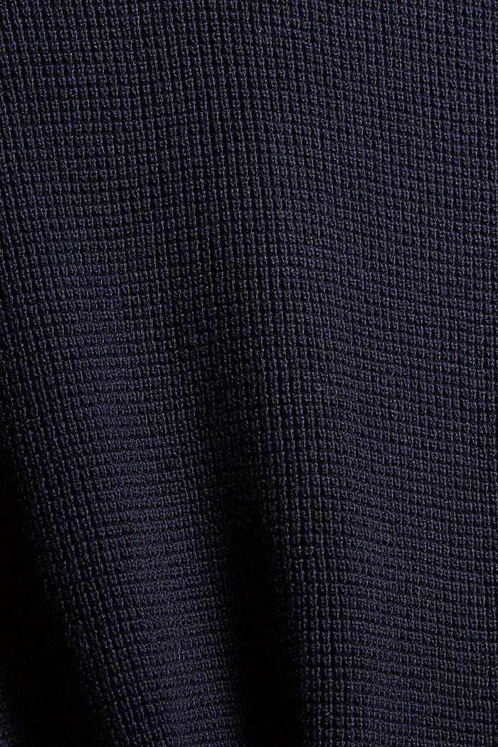 Pull-over à capuche, 100% coton biologique, NAVY, detail image number 4