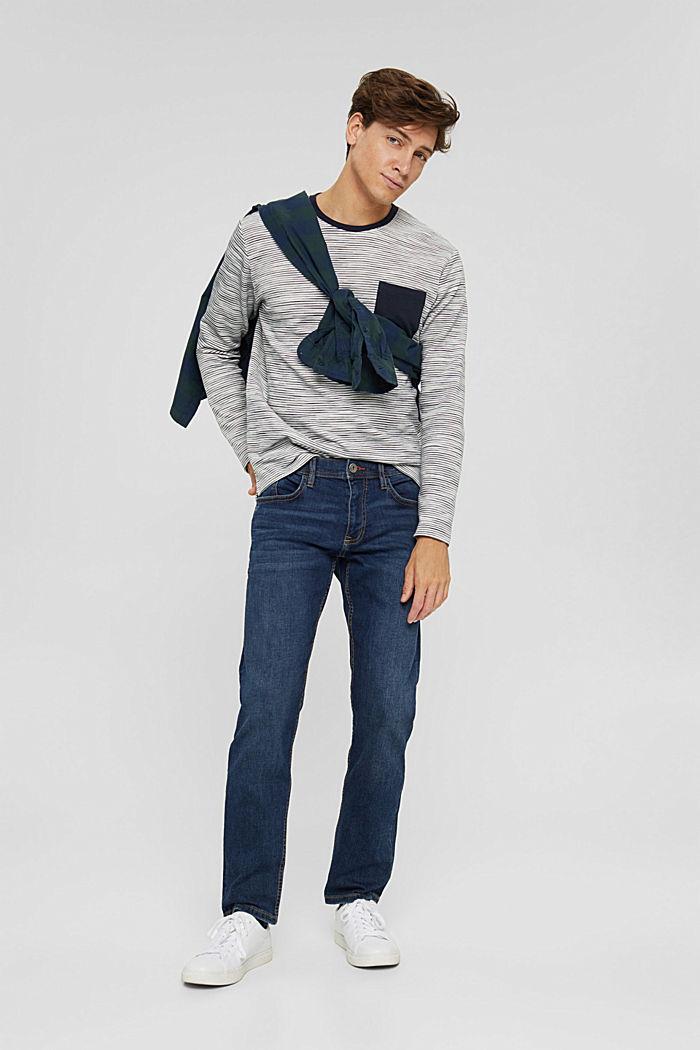 Sweatshirt mit Tasche aus Baumwoll-Mix, OFF WHITE, detail image number 1
