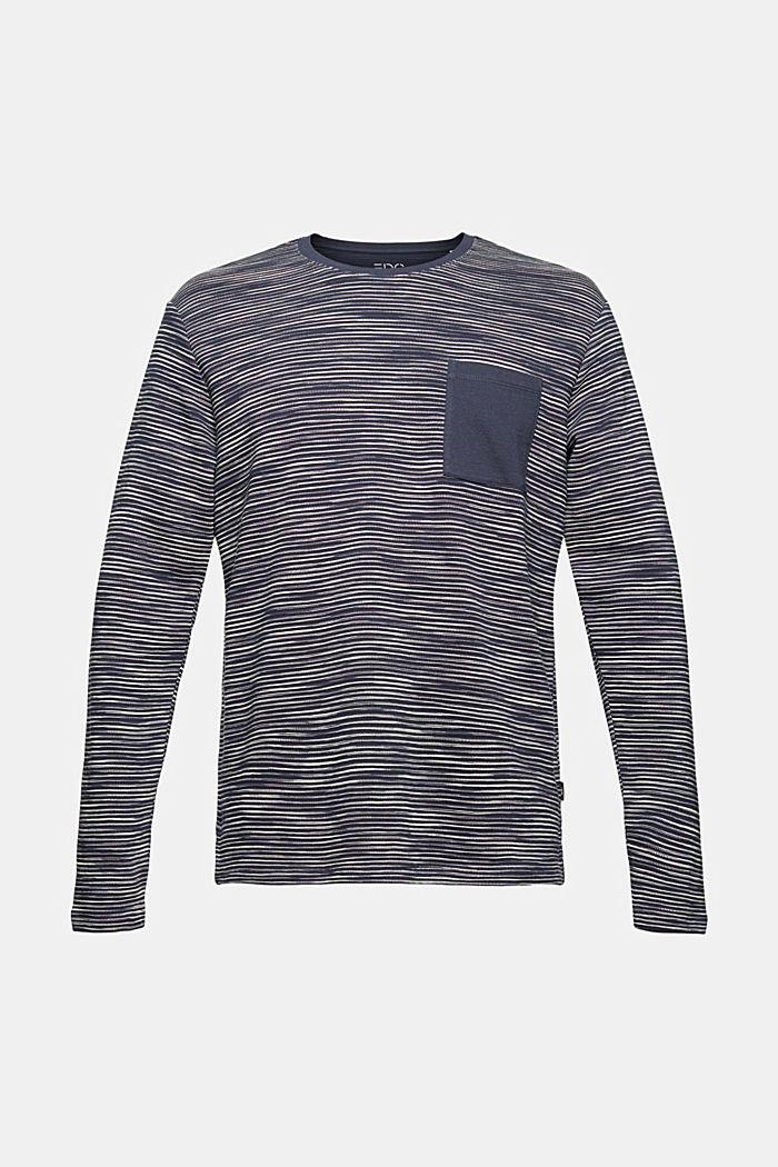 Sweat-shirt à poche en coton mélangé, NAVY, detail image number 7