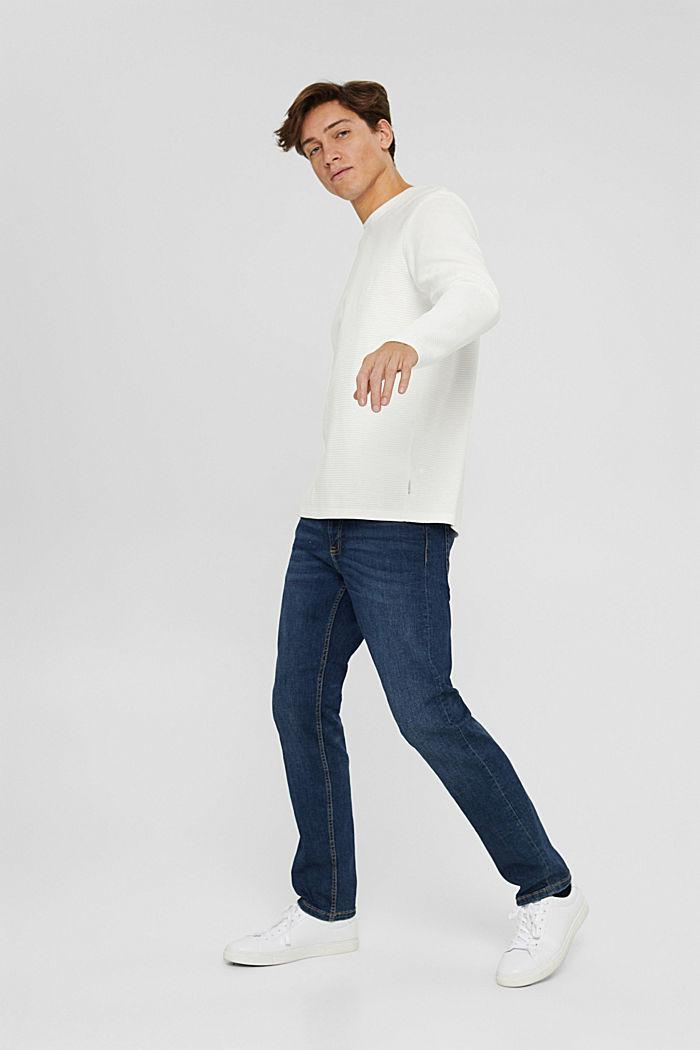 Sweatshirt mit Struktur aus Baumwoll-Mix, OFF WHITE, detail image number 6