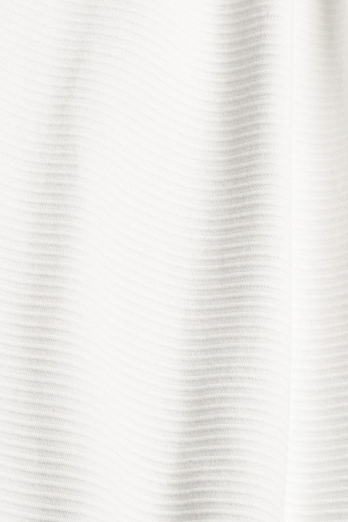 Sweatshirt mit Struktur aus Baumwoll-Mix, OFF WHITE, detail image number 4