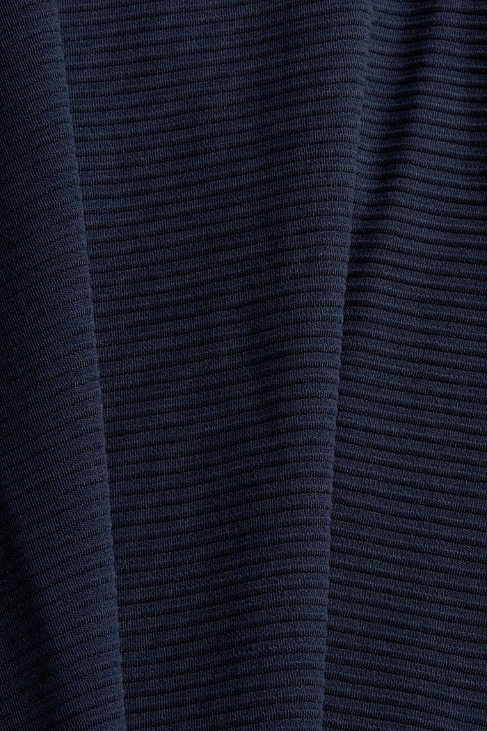 Pintakuvioitu collegepaita puuvillasekoitetta, NAVY, detail image number 4