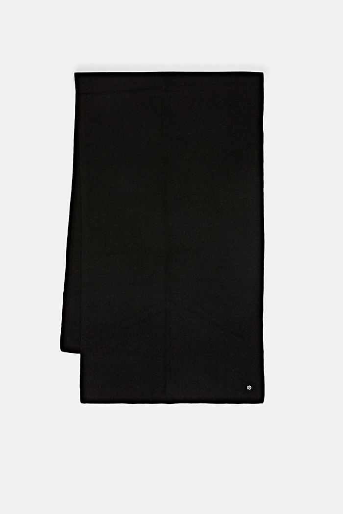 Aus RWS-Wolle/Kaschmir: Strickschal, BLACK, detail image number 3