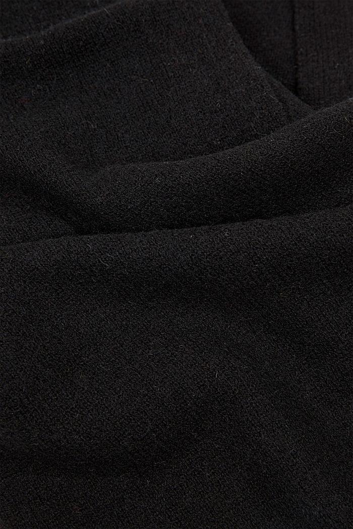 Aus RWS-Wolle/Kaschmir: Strickschal, BLACK, detail image number 2