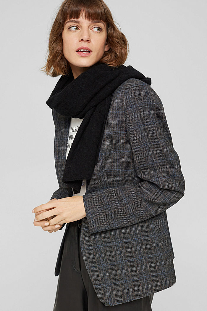 Made of RWS wool/cashmere: knitted scarf