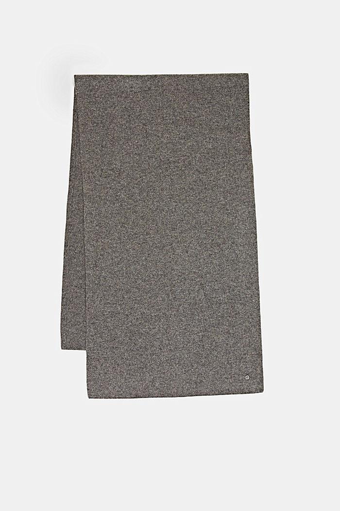 En laine RWS et cachemire: l´écharpe en maille, GREY, detail image number 3