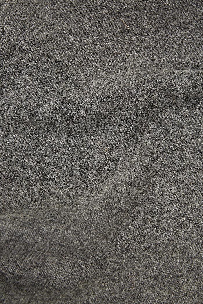 En laine RWS et cachemire: l´écharpe en maille, GREY, detail image number 2