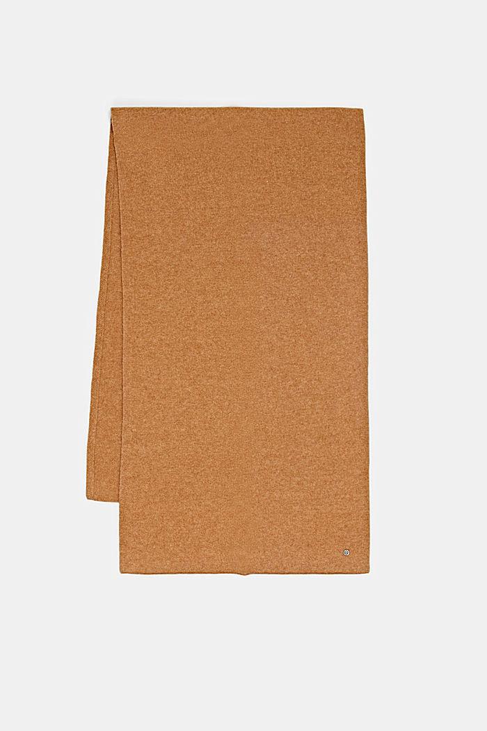 En laine RWS et cachemire: l´écharpe en maille, CARAMEL, detail image number 3