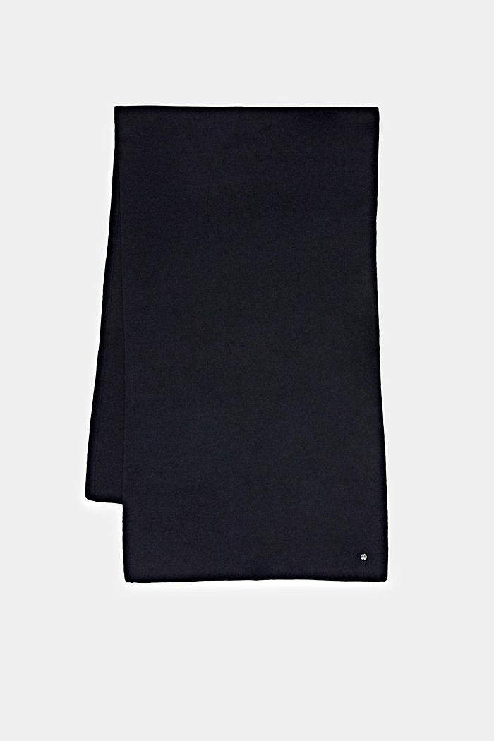 En laine RWS et cachemire: l´écharpe en maille, NAVY, detail image number 4