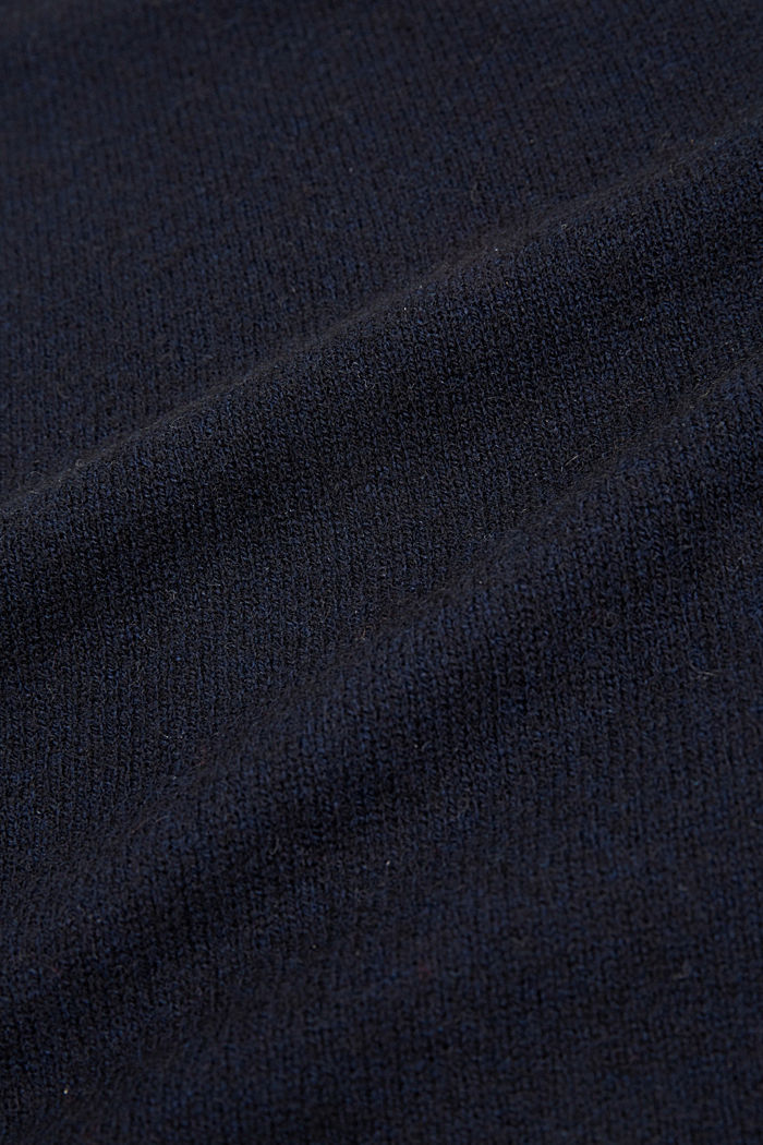 En laine RWS et cachemire: l´écharpe en maille, NAVY, detail image number 2