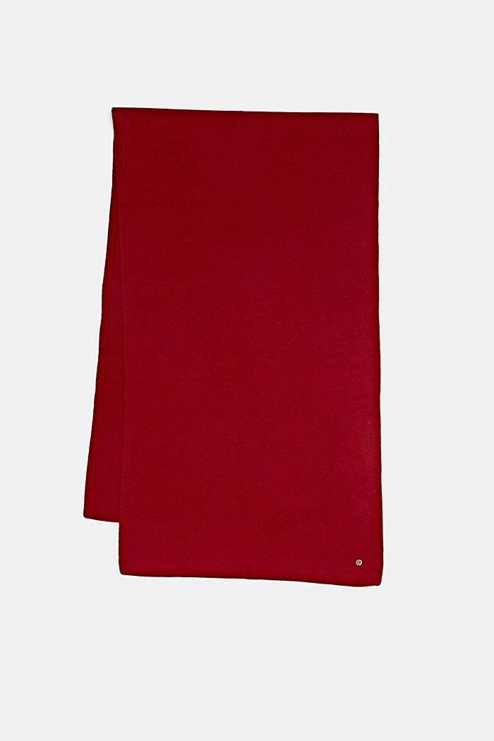 Van RWS-wol/kasjmier: gebreide sjaal, RED, detail image number 4