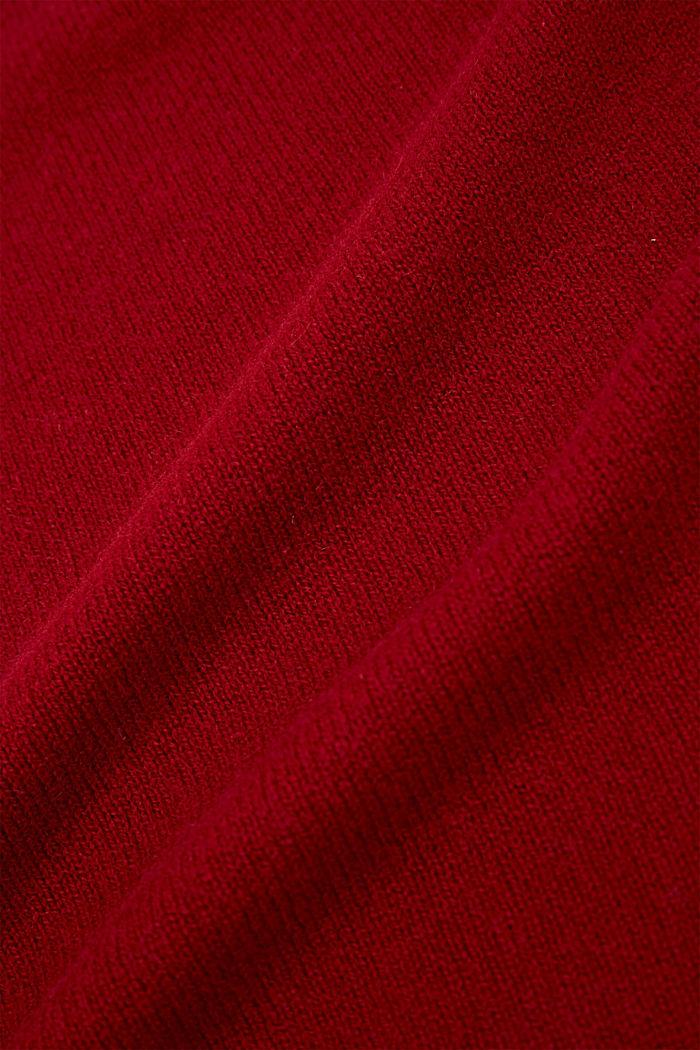 Van RWS-wol/kasjmier: gebreide sjaal, RED, detail image number 2