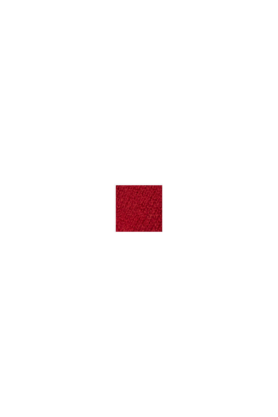 Made of RWS wool/cashmere: knitted scarf, RED, swatch