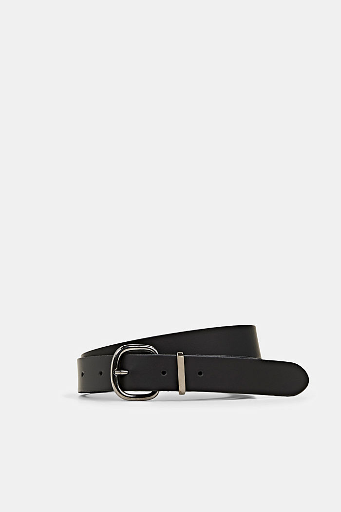 Belts leather, BLACK, detail image number 0