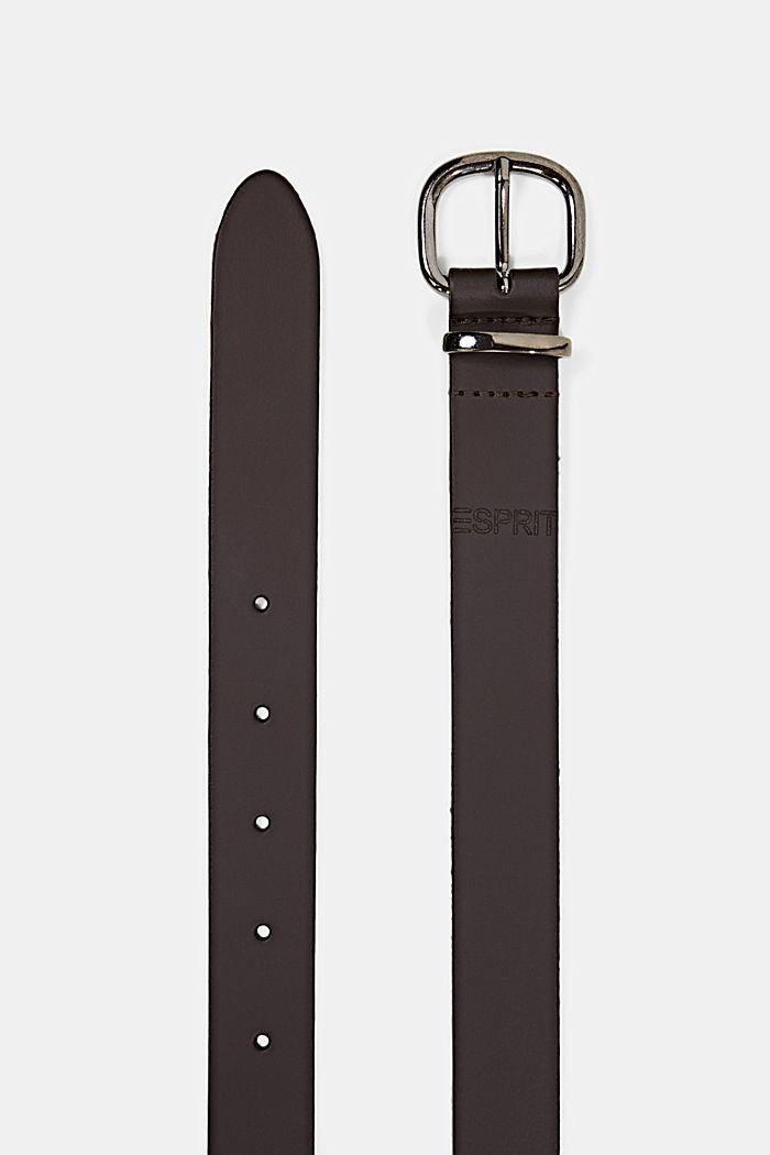 Belts leather, DARK BROWN, detail image number 1