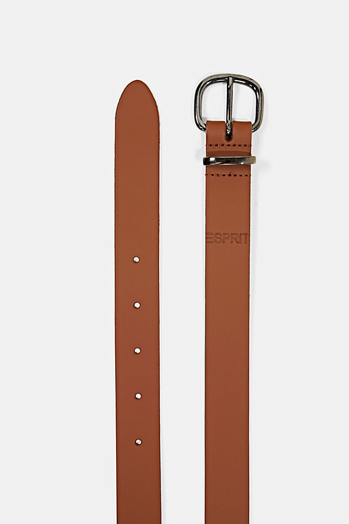 Belts leather, RUST BROWN, detail image number 1