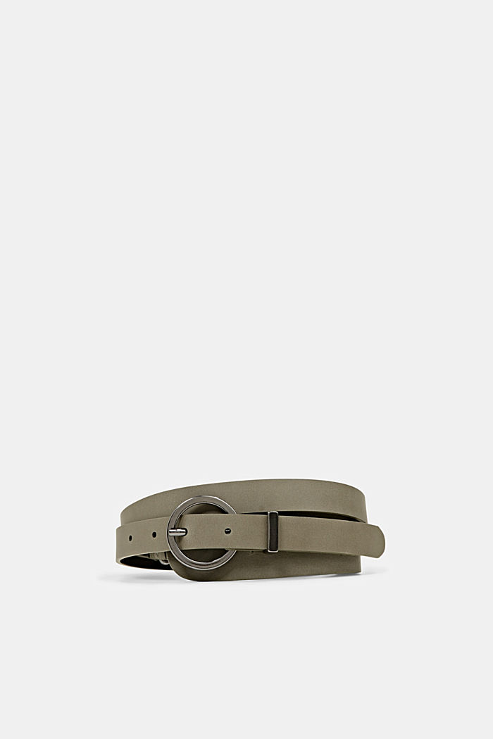 Belts leather, DARK KHAKI, detail image number 0