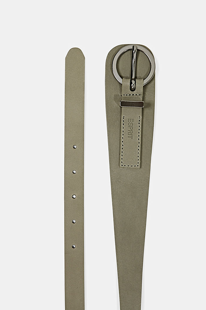 Belts leather, DARK KHAKI, detail image number 1