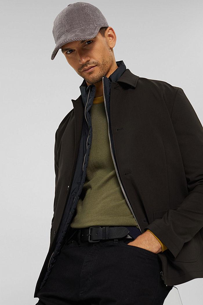 Belts leather, BLACK, detail image number 3