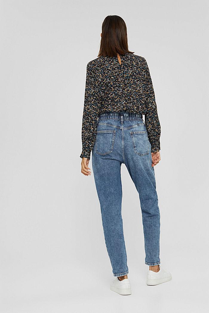 Jeans mit Gummibund aus Bio-Baumwoll-Mix, BLUE MEDIUM WASHED, detail image number 3
