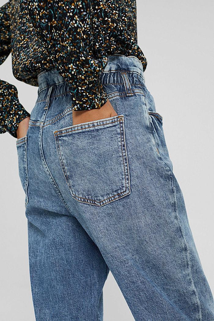 Jeans mit Gummibund aus Bio-Baumwoll-Mix, BLUE MEDIUM WASHED, detail image number 5