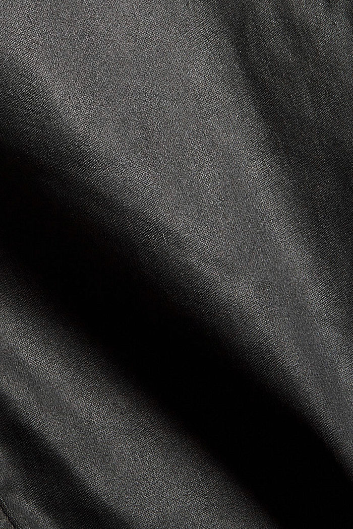 Gecoate broek met ritsen, BLACK, detail image number 4