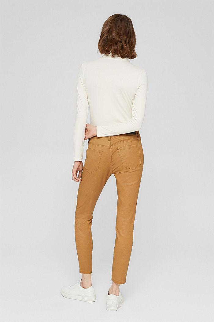 Beschichtete Hose mit Zippern, CAMEL, detail image number 3