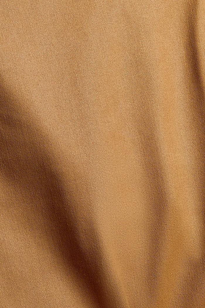 Beschichtete Hose mit Zippern, CAMEL, detail image number 4