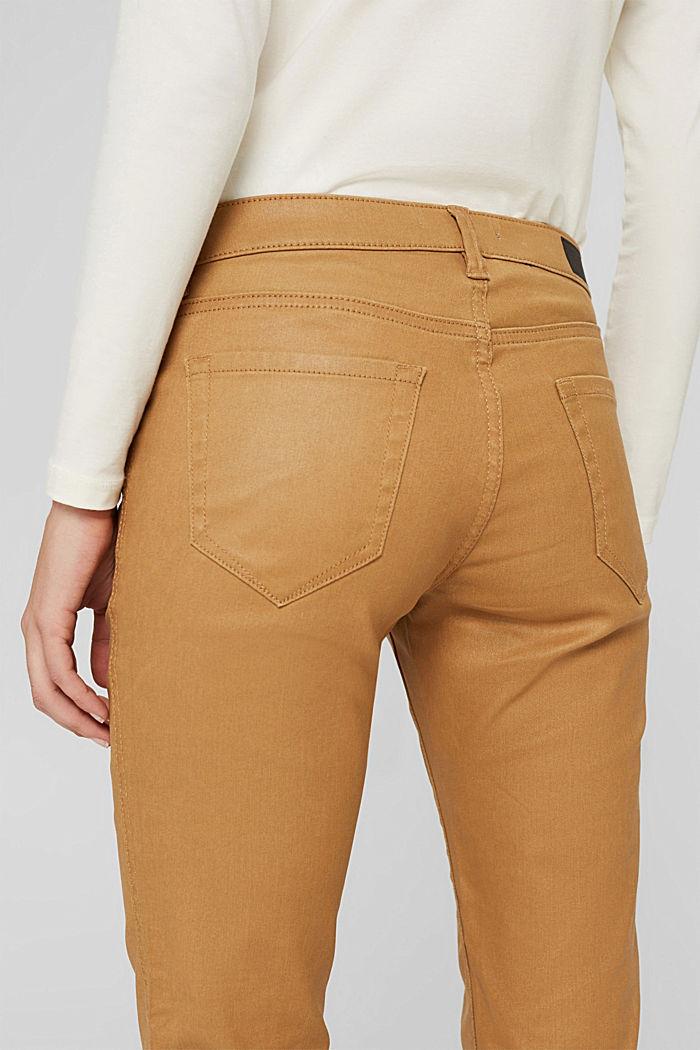 Beschichtete Hose mit Zippern, CAMEL, detail image number 5