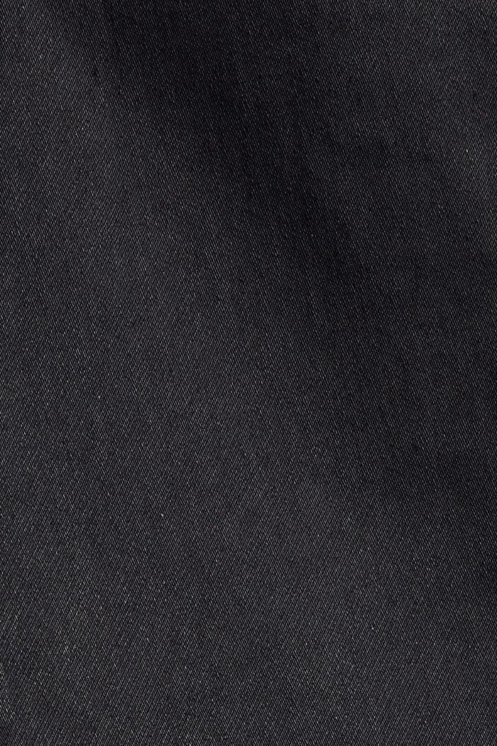 Beschichtete Stretch-Hose mit Doppelknopf, BLACK, detail image number 4