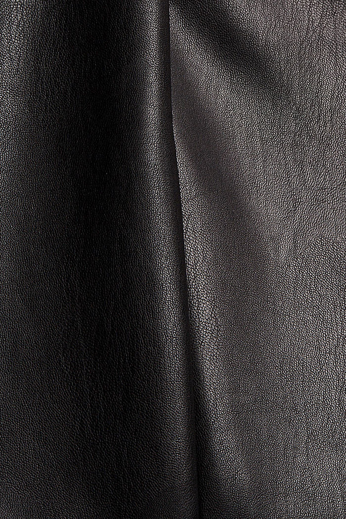 Legging van imitatieleer met stiknaad, BLACK, detail image number 4