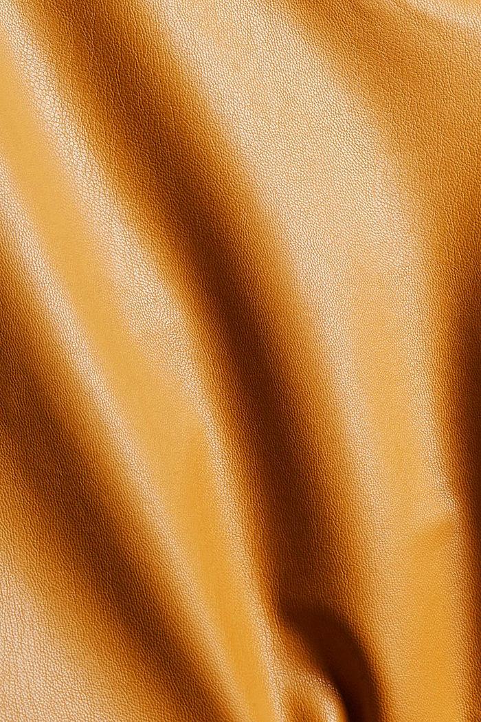 Cropped broek van imitatieleer, CAMEL, detail image number 4