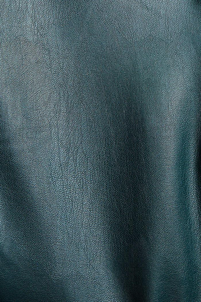 Pantalon court en similicuir, DARK TEAL GREEN, detail image number 4