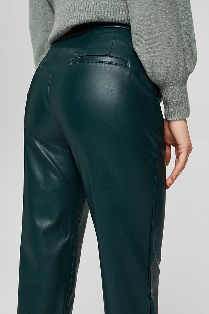 Pantalon court en similicuir, DARK TEAL GREEN, detail image number 5