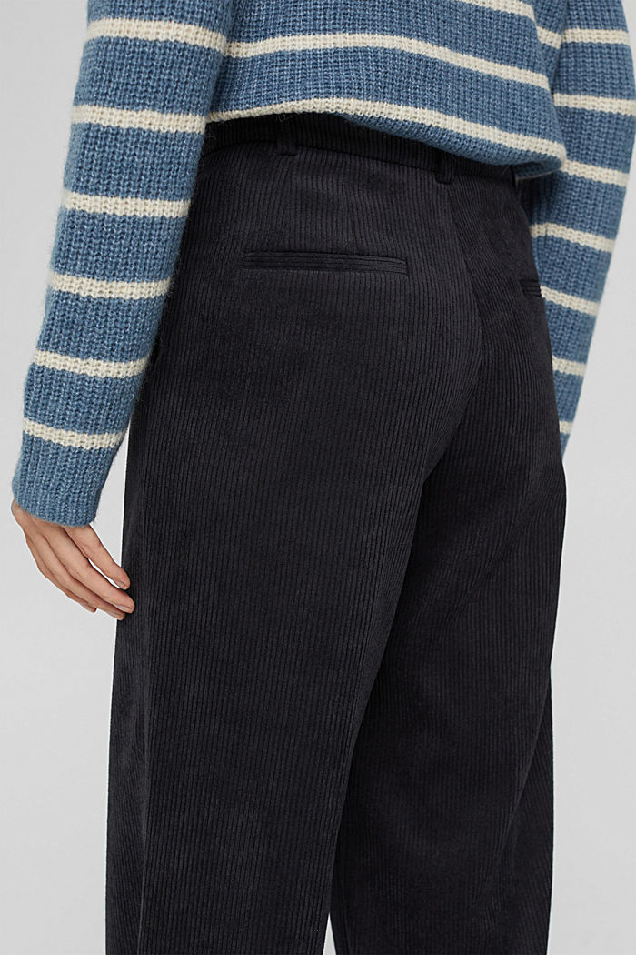 Recycelt: Cordhose mit weitem Bein, BLACK, detail image number 2