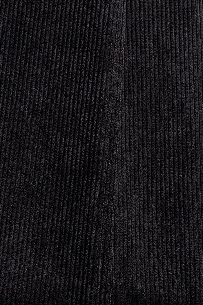Recycelt: Cordhose mit weitem Bein, BLACK, detail image number 4