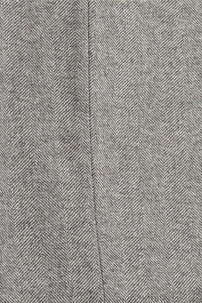 Mit Wolle: Hose mit Fischgrätmuster, ANTHRACITE, detail image number 4