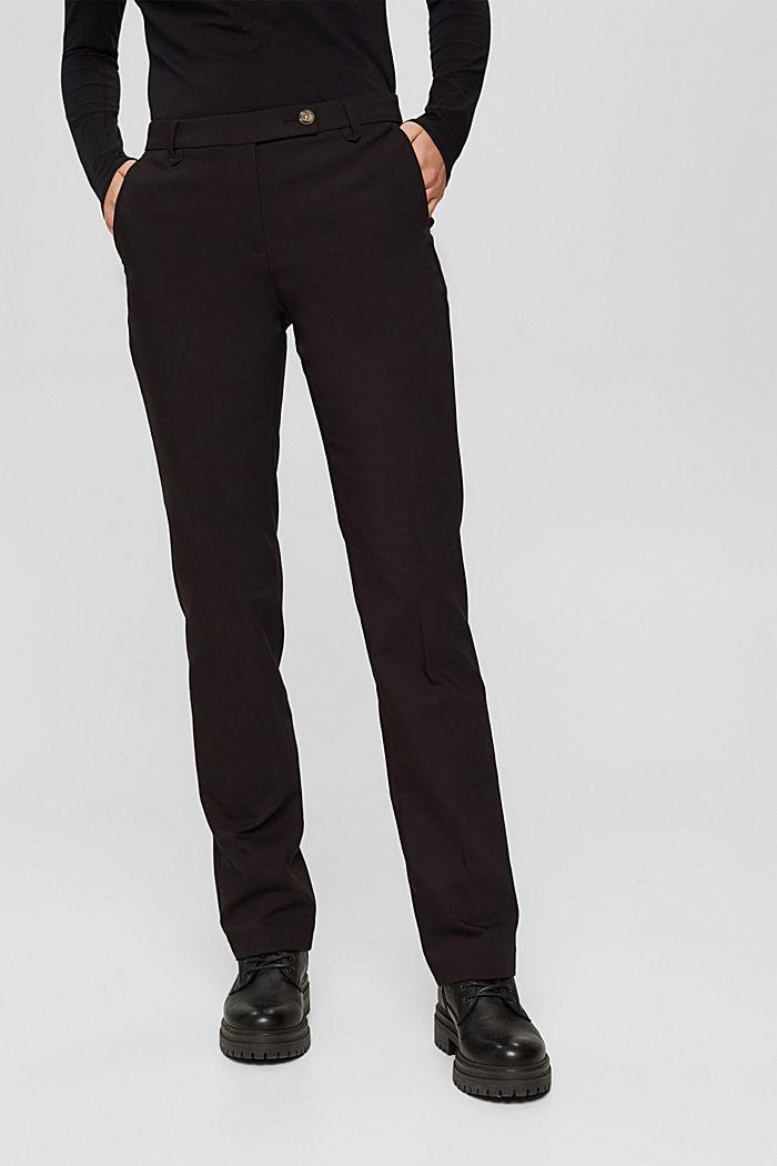 Elegante Chino-Hose aus Baumwoll-Mix, BLACK, detail image number 0