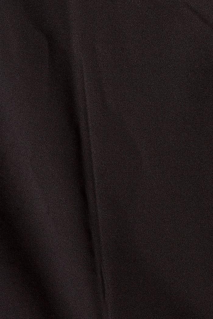 Elegante Chino-Hose aus Baumwoll-Mix, BLACK, detail image number 4