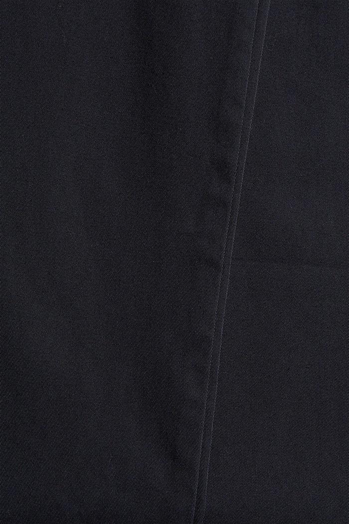 Wijde broek met knoopsluiting, 100% katoen, BLACK, detail image number 4