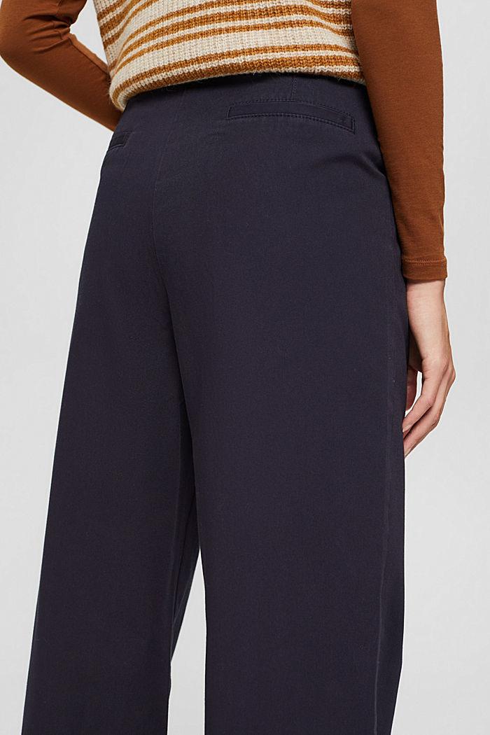 Weite Hose mit Knopfleiste, 100% Baumwolle, NAVY, detail image number 5