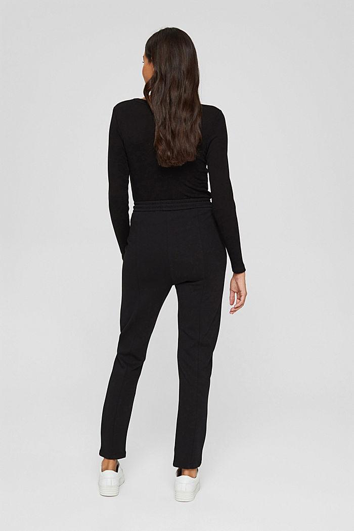 Jogger-Hose mit Zippern aus Jersey, BLACK, detail image number 3