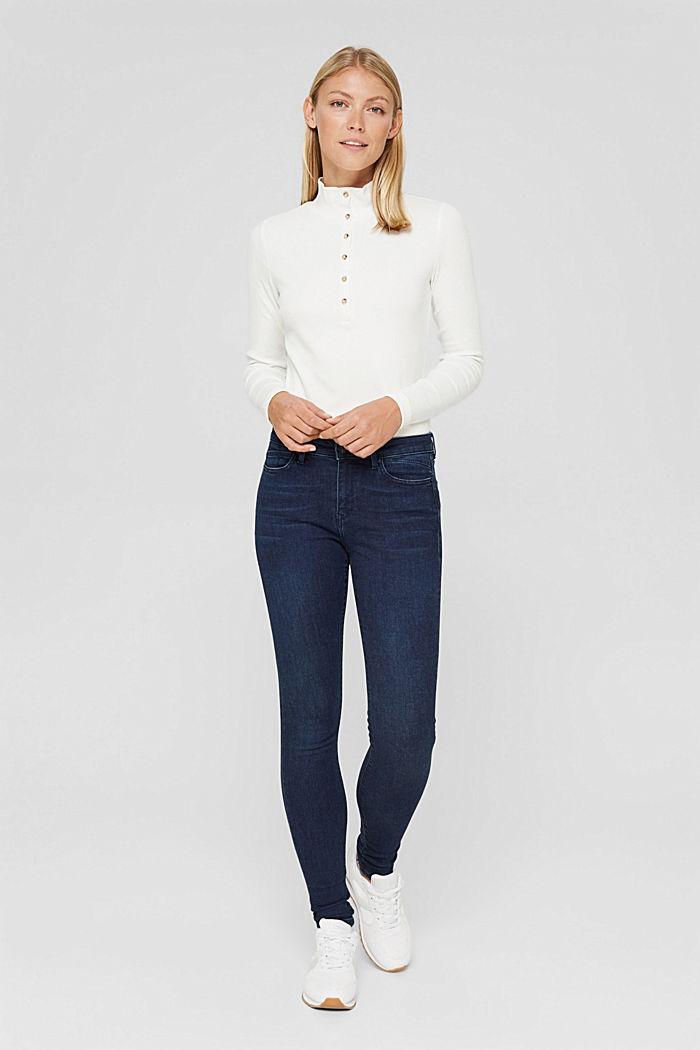 Stretch-Jeans mit Organic Cotton, BLUE DARK WASHED, detail image number 6