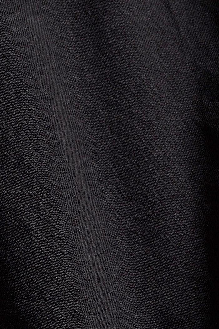 Jeans-Minirock mit Paperbag-Bund, BLACK DARK WASHED, detail image number 4