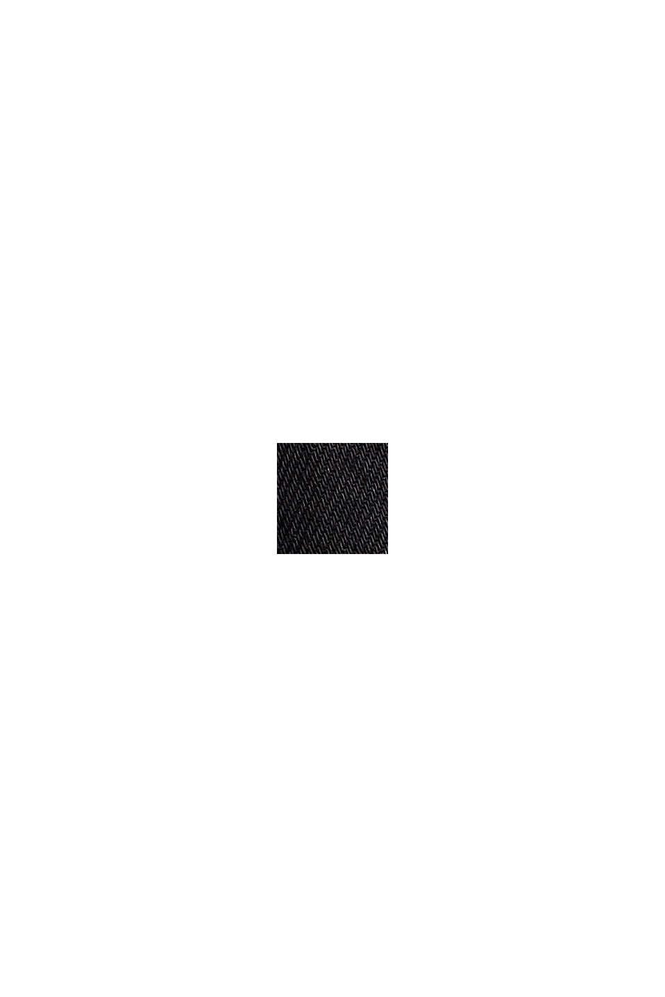 Denim minirok met paperbagband, BLACK DARK WASHED, swatch
