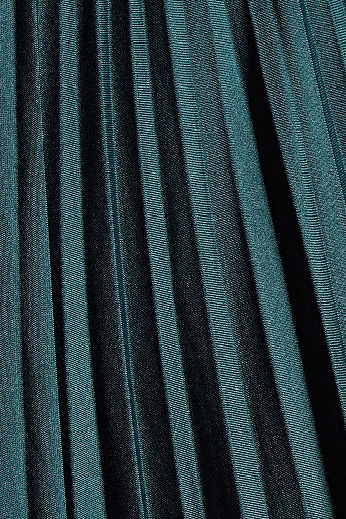 Plissierter Midirock mit Gummibund, DARK TEAL GREEN, detail image number 4